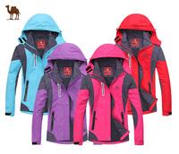 2014 New brand Fashion women's sports coat Winter outdoor waterproof waterproof breathable two-in-one woman Ski jacket