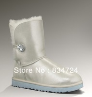 Free Shipping Newest 1002174 Womens  Australia Wedding Snow Boots 100% Real Sheepskin, Size US5-10