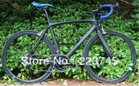 New Arrival! 3K Matte Carbon Road Bike Complete Carbon Bike Frameset Wheelset Integrated Bar Saddle