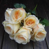 1bouquet 9 buds rose artificial flower plants flowers antepast flower wedding props dining table flowers