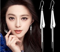 925 Women 925 Pure Silver Earrings Fashion Drop Earring Silver Jewelry Long Tassel Design Calla Earrings
