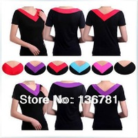 Modal Women V-neck short-sleeve spring and summer clothes leotard dance yoga clothes top fitness sports