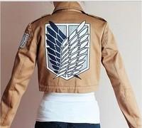 Free shipping 2014 Hot sale! Japanese anime Shingeki no Kyojin  Attack On Titan  2 style Cotton Jacket Cosplay Costume