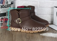 The new 2013 han edition men  boots classic short tube with thick warm shoes goosegrass bottom joker waterproof big yards