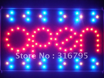 led111-r OPEN Shop Bar Beer Led Neon Sign WhiteBoard Wholesale Dropshipping