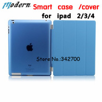 free shipping hot sales smart case /cover front case + back cover case skin for apple ipad234 Rubberized hard case protective