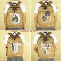 Mochila Infantil Leather Backpack Mochila Escolar Attack On Titan Shingeki Kyojin Cosplay Backpack Schoolbag Shoulder Bag Anime