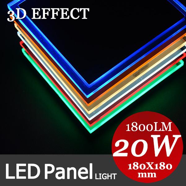 Muy suave luz 3d efecto para la cocina 20w cuadrado de panel plano de iluminación led, 5730 3528, luz de la cocina, ac90-256v, ce, rohs