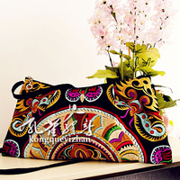 Peacock messenger bag casual bag bags female bags female black box bags one shoulder leather bag cross-body handmade