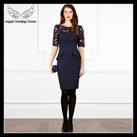 2013 back lace embroidered sexy perspective gauze cutout kc010 slim one-piece dress KMD127