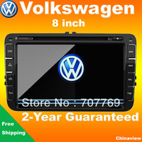 VW 8 inch car dvd for Polo Golf Magotan Tiguan Caddy Passat Tiguan Touran with GPS navigation bluetooth radio