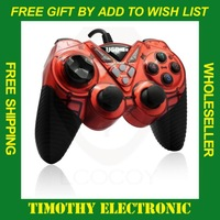 1PC USB GamePad Double Shock Game pad Joystick Joypad Controller PC  FREE SHIPPING #DW003