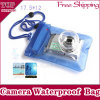 Free Shipping 2pcs X Digital Camera Waterproof PVC Case For Canon/Nikon/Sony/OLYMPUS Underwater dry bag pouch Support Wholesale