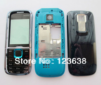 Sample,mobile phone housing for nokia 5130 blue Full faceplates cover case+ keypad cell phone,free shipping