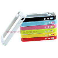 D19+1PC 2in1 TPU Frame Case Skin Cover Protector For iPhone 4 4S New