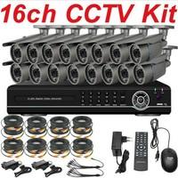 Free shipping sony effio-e 700TVL vari-focal zoom lens cctv security bullet outdoor video camera 16ch cctv kit system 16ch DVR