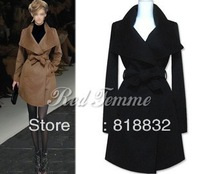 Free Shipping Large lapel fashion ultra long paragraph overcoat outerwear