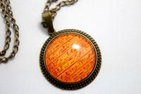 10pcs/lot Egyptian Hieroglyphics Necklace Glass Cabochon Necklace