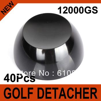 40Pcs Black Golf Detacher Super Magnetic Force 12000GS Security Tag Remover Hard Detacher Eas System