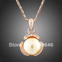 Free Shipping Arinna 18K Gold Plated Pendant Neckace Fashion Jewellery SWA Elements Free Wholesale N1345