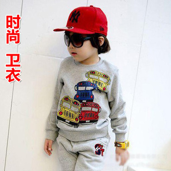 Free shipping kids fashion sweatshirt hoodies ,childrens stylish long sleeve t shirt,Blue,Orange,2-5 years