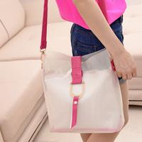 fashion women's handbag jelly bag translucent neon color block picture package bag messenger bag