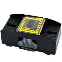 3Pcs/Lot New Plastic 1-2 Decks Shuffling Playing Cards Card Poker Shuffler Automatic Machine Black TK0672  B16