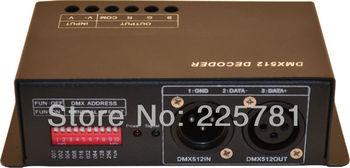 Free shipping DMX Decoder;Inpot DC5V-24V,LED DMX512 controller RGB Controller support TM1804,TM1809,TM1812 driving IC
