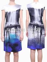 [SPEICAL PRICE] ONLY $39 FREE SHIPPING Women 2013 MARY KATRANTZOU Print Dress Elegant Abito HC Fitted Seta Stampata Dresses