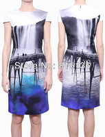 [SPEICAL PRICE] ONLY $39 FREE SHIPPING Women 2013 MARY KATRANTZOU Print Dress Elegant Abito HC Fitted Seta Stampata Dresses