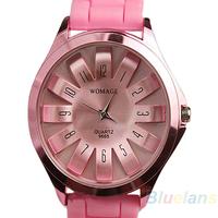 women dresses Fashion Silicone Quartz Sports Watch Men Women ladieds Dress Geneva Jelly WristWatch 1J7V