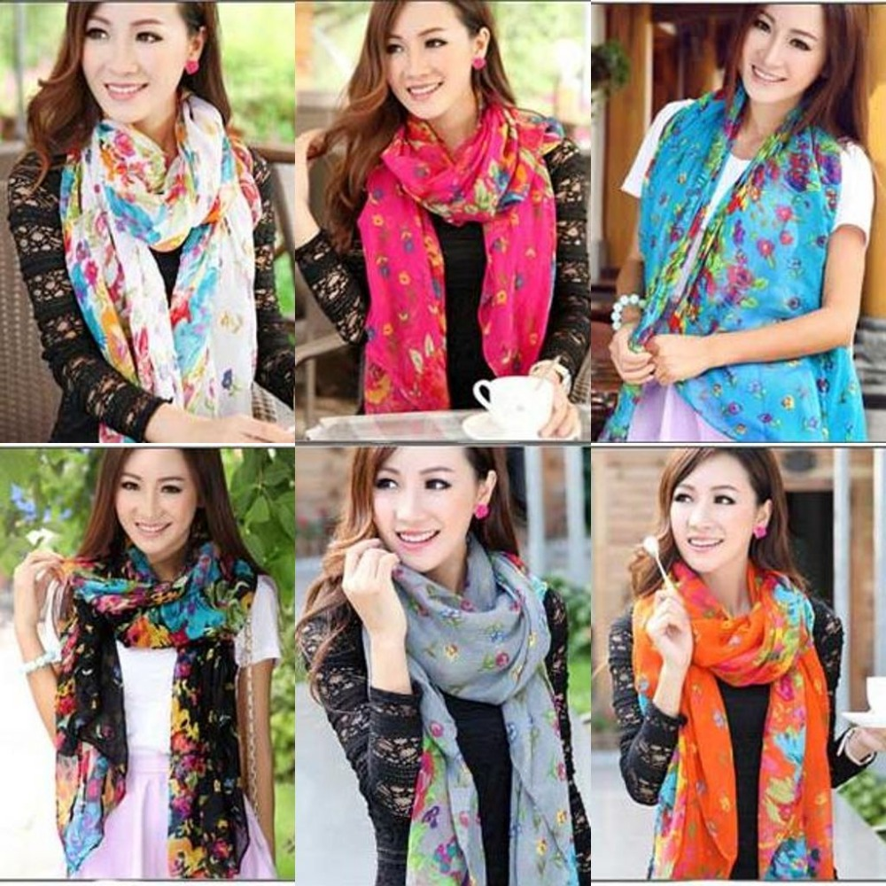 South Korean female models Winter Garden Floral scarves scarf shawl scarf sun flowers blooming beach towel(China (Mainland))