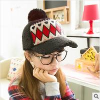 Winter plush ball letter baseball cap, letter thickening thermal lovers design hat,New Design Sports Cap
