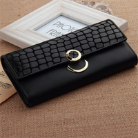 2013 Brand Genuine Leather Women's Clutch Vintage Purse Long Design Female Wallet day clutch Mobile Phone Bag