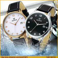 Free Shipping,Watch circle bucket vintage table waterproof watch male commercial watch strap belt calendar