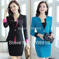 Spring and Autumn Fashion Work wear women's set slim Ol beauty work wear set skirt Suits Sets