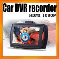 "Freeshipping Full HD 1080P Super Slim Design Rearview Mirror Car DVR Recorder G-600 2.7""LCD Built-in G-Sensor"