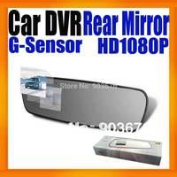2014Newest Car Black box  Rearview mirror Car Camcorder Full HD 1080P Super Slim Design Built in G-Sensor