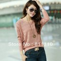 Trend Knitting  2013 New fashion Women's Clothes Loose printing O-Neck bat sleeve Pullovers Coat 5 Colors