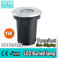 Free Shipping, AC85~265V, High Power LED 1W Underground Lamps Outdoor Underground Light