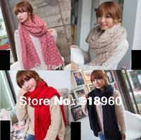 New winter Women's twist Scarf/warm ladies' knitting wool Shawl thread Scarves/big size 220cm/6colors good quality/ATJ