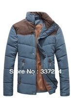 2013 male colorant match brief thermal wadded jacket thickening men's clothing casual cotton-padded jacket winter