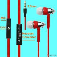 3.5mm Red Stereo Music Headset Headphone Earphone in Ear For Nokia N9+ C6 01 1616 6710N 5800 8208C