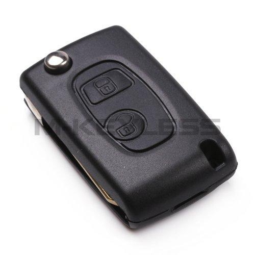 New 2 Buttons Uncut Folding Flip Remote Key Case Shell Fob For Citroen Saxo Xsara Picasso Berlingo Free Shipping(China (Mainland))