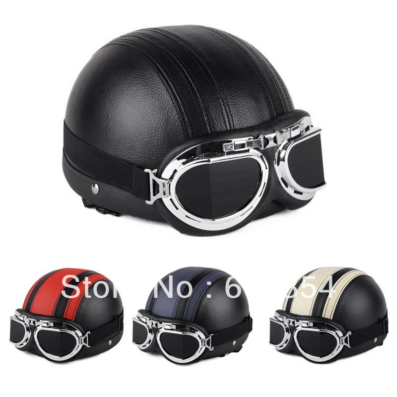 Motorcycle Half Helmets Face Half Leather Helmet