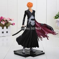 Free shipping 1pcs Japana anime Bleach pvc Kurosaki Ichigo action figure toys tall 19cm.Promotion price for Bleach fans.
