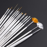 1set/15Pcs Design Painting Pen professinal Nail Art Brush Set for natural/false and 3D Beauty free shipping Brand New