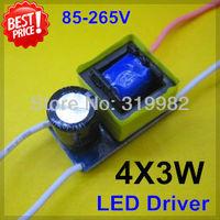 10pcs/lot 4X3W led driver, 4*3W driver, 12W lamp driver, 85-265V input for E27 GU10 E14 LED lamp, lamp power driver, freeship