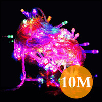 New Arrival FREE shipping Multicolour colorful AC220V 10M CE&ROHS  8 working modes Christmas decorative LED bulb string light