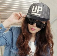 Free shipping  flat along the hip-hop cap male washed UP letters baseball cap Snapbacks